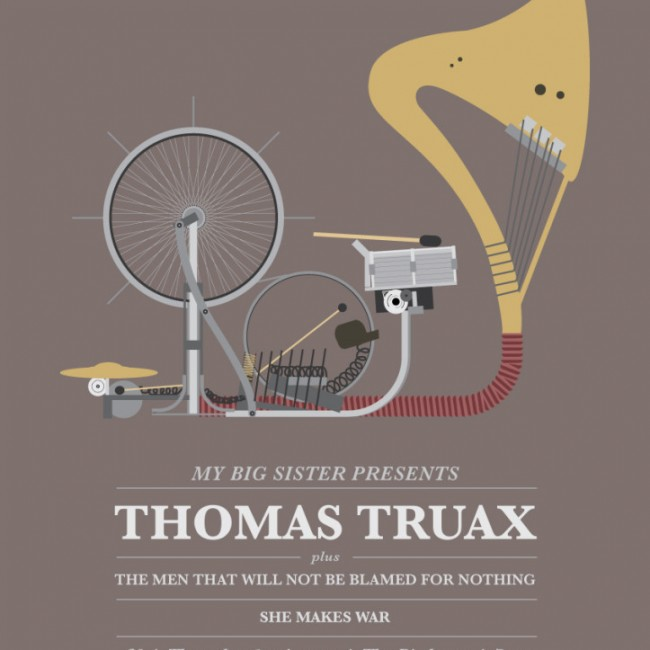 Gig Preview - 1st August 2013 - Thomas Truax + TMTWNBBFN + She Makes War at Birdcage, Bristol