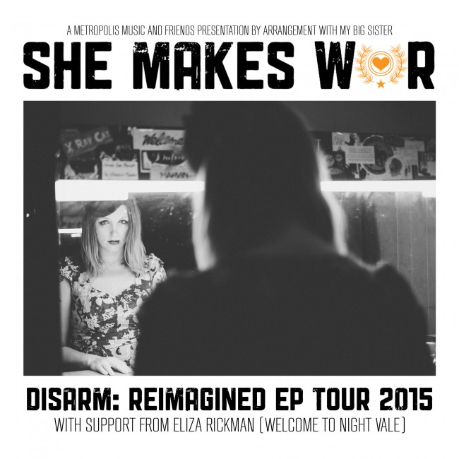 "Tickets on sale for the ""Disarm: Reimagined"" EP Winter Tour with Eliza Rickman"