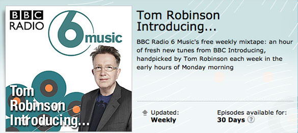 "Radio: ""Slow Puncture"" featured on Tom Robinson's BBC Mixtape: 30 Nov 2015 1"
