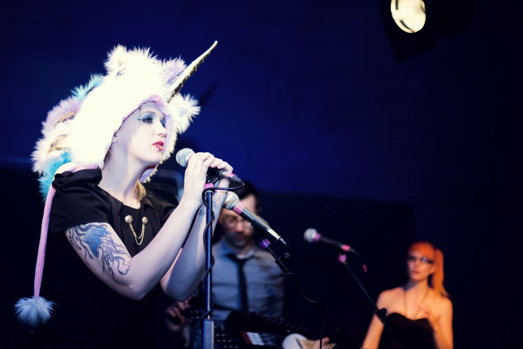 Performing at The Half Moon, Herne Hill for the Little Battles album launch in April 2012. Photo by Laura Ward.