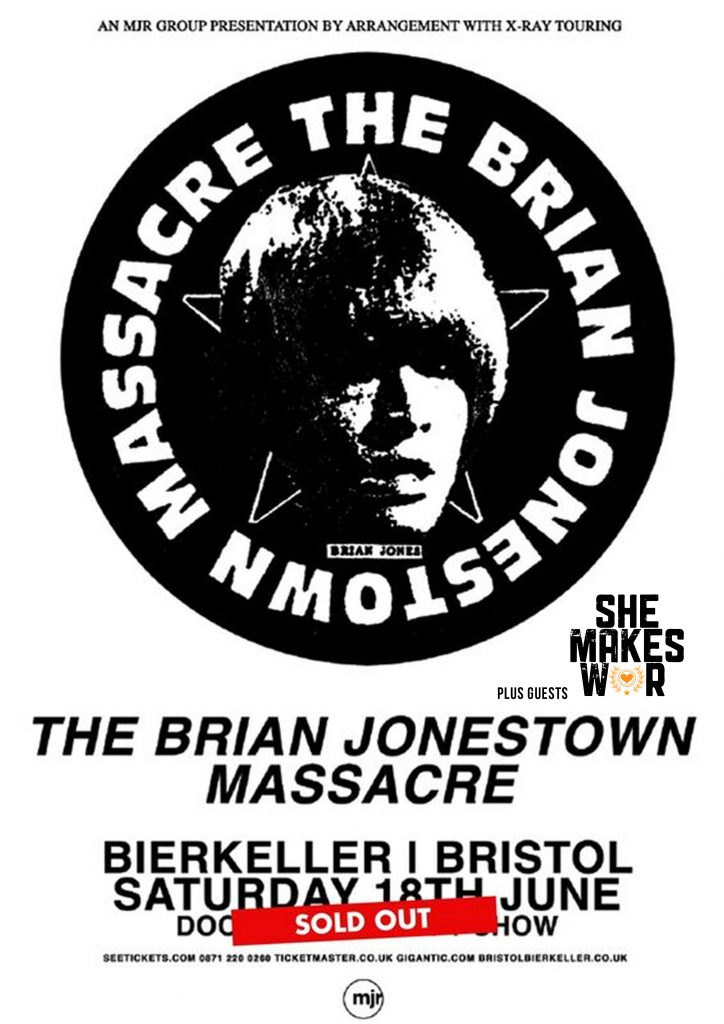 She Makes War to support The Brian Jonestown Massacre in Bristol and Southampton next month!