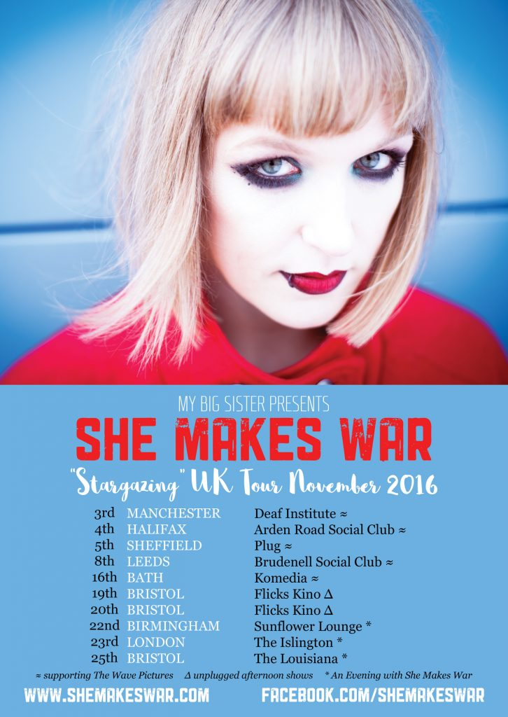 "New dates added to the ""Stargazing"" tour - Manchester, Halifax, Sheffield, Leeds and Bath supporting The Wave Pictures"