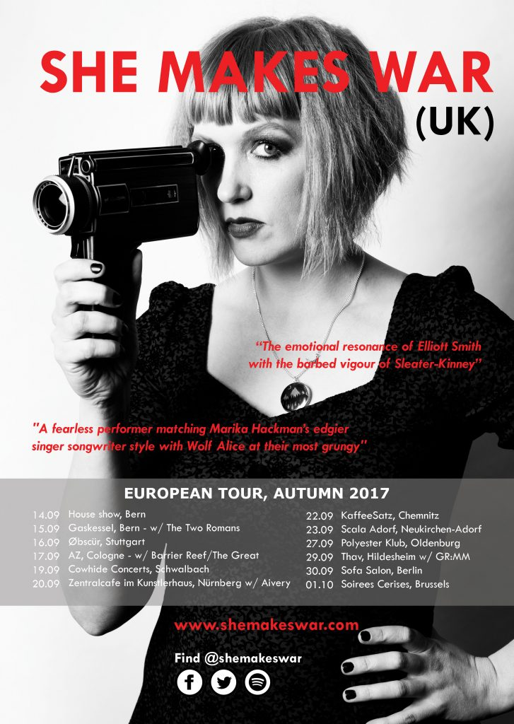 She Makes Tour - September and October 2017 dates in Europe