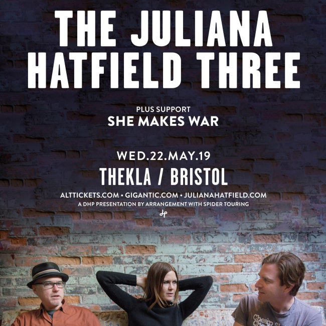 Gig alert: two shows with The Juliana Hatfield Three in May 2019! 1