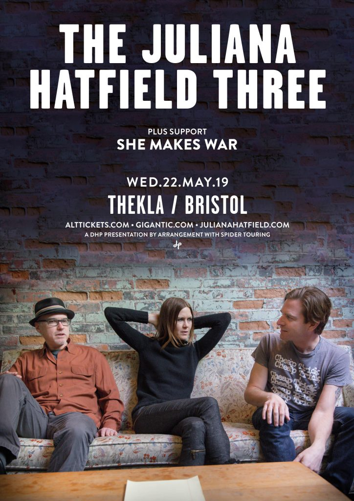 Gig alert: two shows with The Juliana Hatfield Three in May 2019!