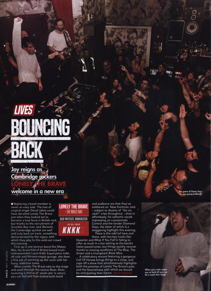 Live review from Kerrang! 10/1/19