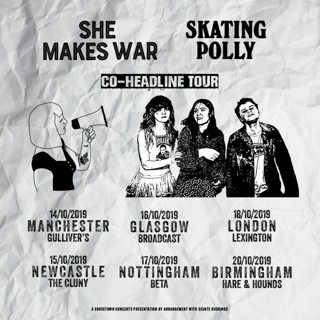 She Makes Tour - teaming up with Skating Polly for UK, French and German dates this October!