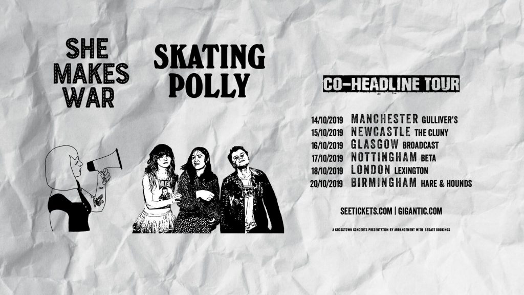 She Makes Tour - teaming up with Skating Polly for UK, French and German dates this October! 1
