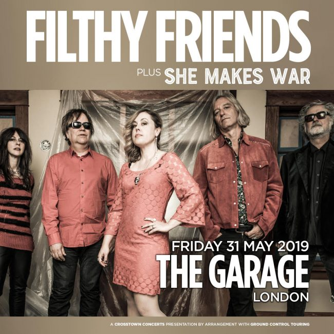 Supporting Filthy Friends this Friday at The Garage!
